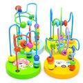 Brinquedo de aprendizagem Bebê Crianças Colorido Mini De Madeira Ao Redor Contas Educacional Brinquedo Para bebê recém-nascido meninas meninos 12 + meses