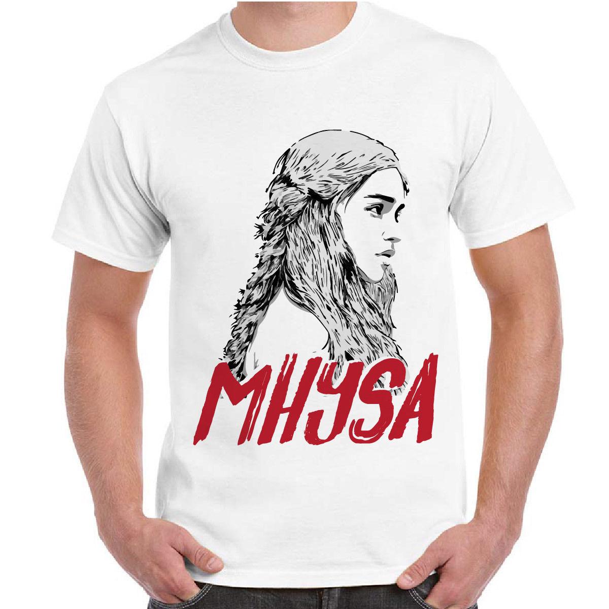 2018 Fashion Style T-Shirt Uomo Serie TV Game of Thrones Il Trono Di Spade Daenerys Mhysa Maglietta Degli Uomini T-Shirt