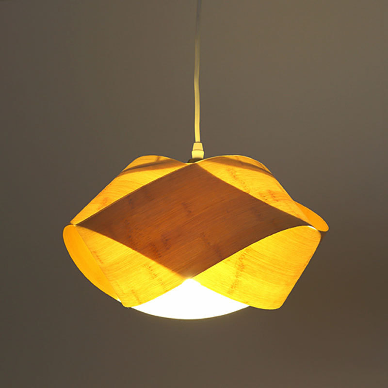Bamboo pendant lamp table lamp meal chandelier single head home small bedside lamp bedroom chandelier warm personality
