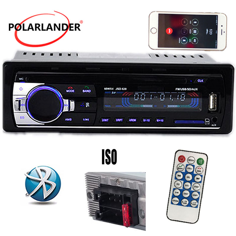 NEW 12V Bluetooth in one din cellphone Charger Car Stereo Radio MP3 Audio Player MP3/FM/USB/SD/AUX-IN/Car Electronics In-Dash
