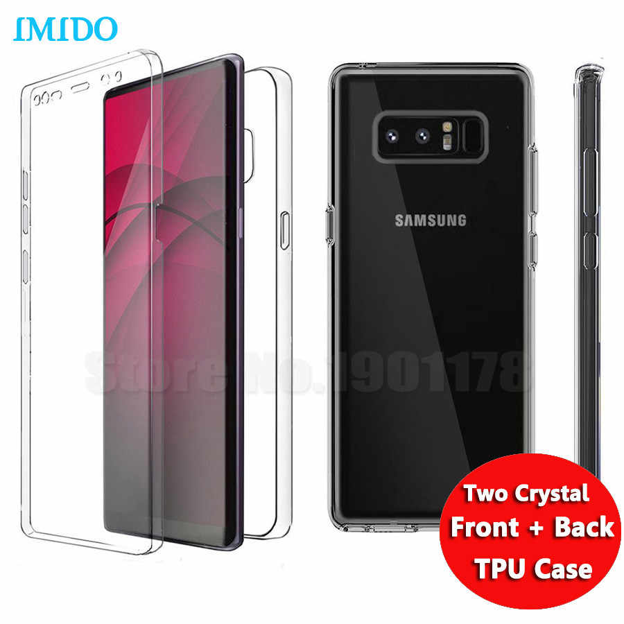 IMIDO 360 Degree Full Body Two Crystal Front+Back TPU Case For Samsung  Galaxy Note 859426c7a6fe