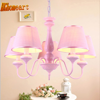 High Quality American Pastoral Modern Chandeliers For Bedrooms 5 Heads E27 LED Lamp 110 220V Suspension
