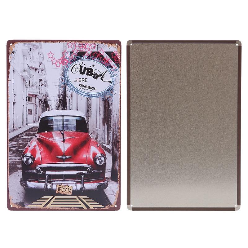 Винтаж Metal Tin Белгілер Мотоцикл Retro Plaque - Үйдің декоры - фото 4