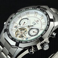 Forsining Top Luxury Brand Watches Men Male Business Wristwatches Full Steel Automatic Mechanical Watches Relogio Masculino