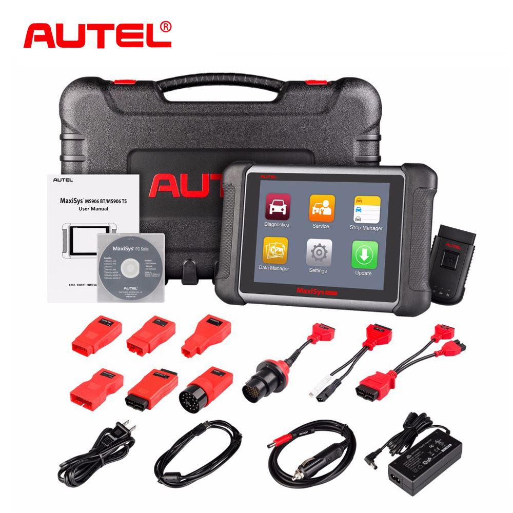 AUTEL Original MaxiSys MS906BT Sans Fil De Voiture Outil De Diagnostic MS906 BT OBD2 ECU Codage Scanner Mieux que MaxiDAS DS708 DS808