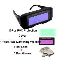 Auto Darkening Glasses Welding Argon Arc Welder Automatic Dimming Goggles Eye Protection Anti-glare Welding Mask Free Shipping