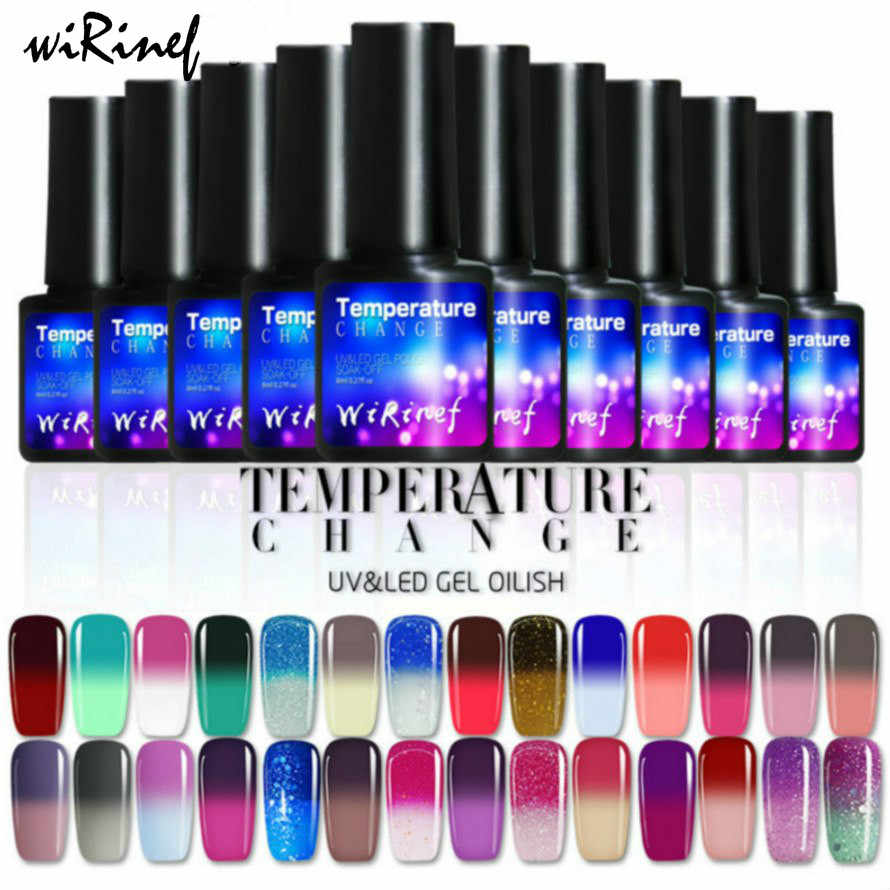 Gradient Color Bottle 8ml Nail Polish Fashion Hot 28 COLORS Nail Art Nail Polish Polish UV LED Gel Polish Semi Permanent Varnish