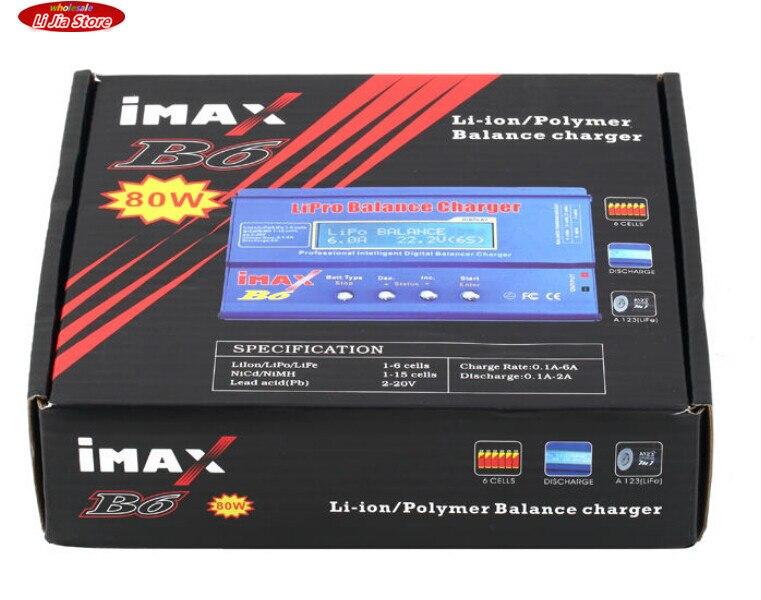50sets Free shipping Original <font><b>iMAX</b></font> <font><b>B6</b></font> Lipo NiMh Li-ion Ni-Cd RC <font><b>Battery</b></font> Balance Digital <font><b>Charger</b></font> Discharger C1Hot New Arrival