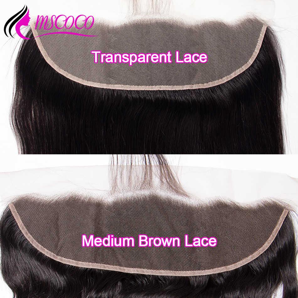 Cierre Frontal de encaje transparente HD de pelo recto con pelo de bebé onda brasileña del cuerpo encaje suizo cabello humano cierre Frontal