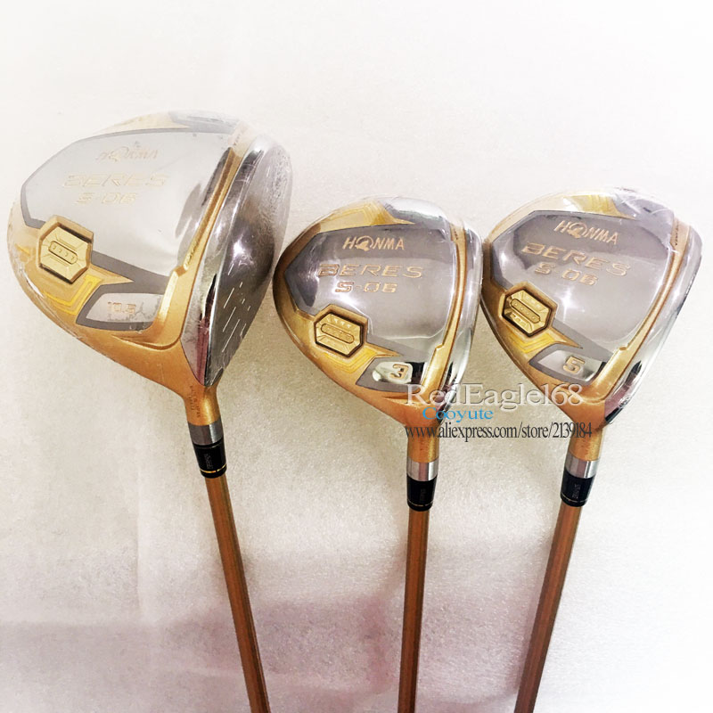 Cooyute New Golf Clubs HONMA S-03 Golf Wood Set Driver 10.5 Or 9.5Loft+3 5 Fairway Wood With Graphite Golf Shaft Free Shipping