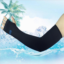 Outdoor sports cycling driving milk silk  top cool arms warmer summer cuff sleeve cover UV sun protection breathable