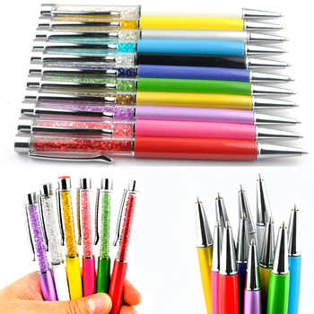 500 PCS/lot Crystal Metal ballpoint pen roller ballpen Pencil box and bag stationery office school brand gift can customize logo - DISCOUNT ITEM  0% OFF All Category