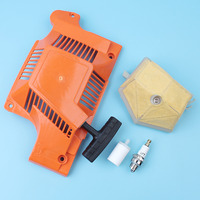 Recoil Pull Starter Assy Air Fuel Filter Kit For Husqvarna 50 51 55 Rancher 55 EU1 EPA Chainsaw # 503151801 5036088 03 503608803