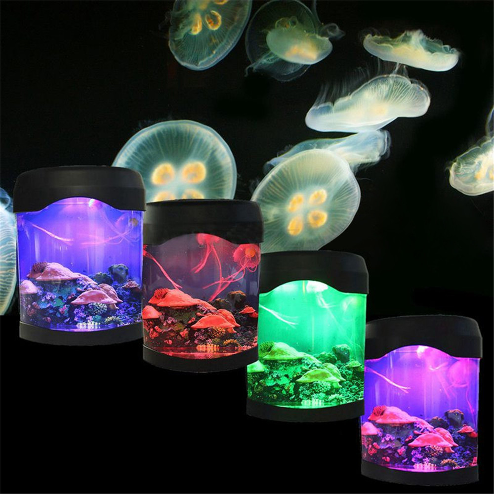 Objective Ocean Decor Electric Jellyfish Tank Aquarium Night Light With Color Aquariums & Tanks