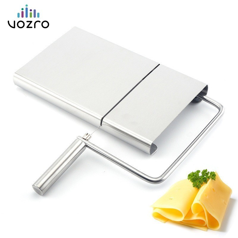 VOZRO Stainless Cheese Slicer Grater Section Butter Shredder Cutting Board Cloth Department Platform Rallador Ralador De Queijo image
