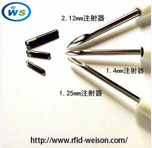 (80pcs/lot animal Syringe)2*12mm 134.2KHz Stanard ISO Chip EM4305 for pet design