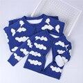 Meninas de Inverno Casaco de lã Nova Clould Meninos Moda Camisola Crianças Cardigan Grosso Menina Quente Bebê Camisola Crianças Casaco de Inverno