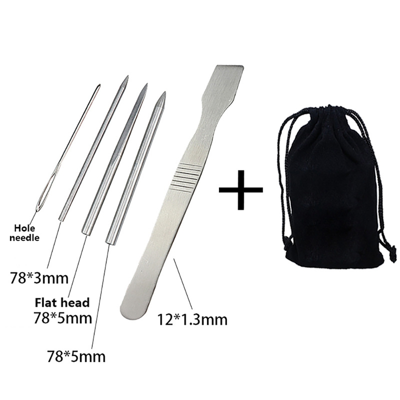 Umbrella Needle Set Multi Tool Paracord Stitching Needles Set Stainless Steel Lacing Smoothing Tool For Bracelet Laces Strings