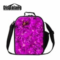 Dispalang New Insulated Lunch Bag for School Picnic Variety Floral Prints Portable Cooler Bag Children Thermal Lunchbox Meal Bag