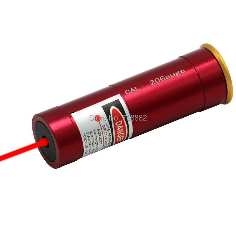 Tactical 20 Gauge Cartridge Laser Bore Sighter Red Sighting 20GA Boresighter For Airsoft Hunting