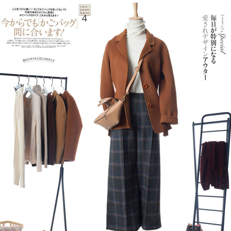 BELIARST 2019 Autumn and winter new women's handmade double sided wool coat short suit woolen jacket Slim-in Wool & Blends from Women's Clothing    2