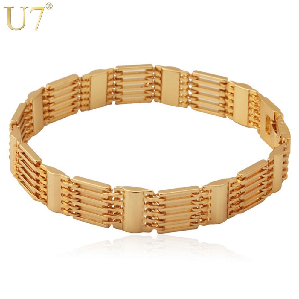 Silver Color Copper Chain Bracelet  Men's Jewelry Wholesale H423