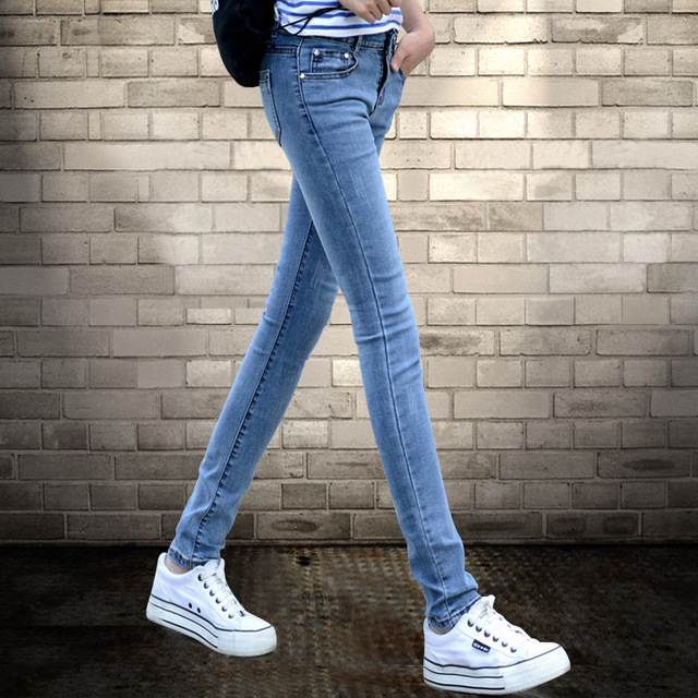 Boyfriend Jeans For Women Hot Sale New 2016 Summer Students All-match Jeans Female Feet Pencil Pants Stretch Slim Han Banchao
