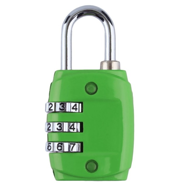 0f307cad9ba0 2018 hot sale Zinc Alloy Security 3 Digit Dial Combination Code Number Lock  For Luggage Zipper Backpack Handbag Suitcase-in Locks from Home ...