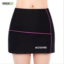 WOSAWE одежда для спорта на открытом воздухе для езды на велосипеде бесшовные эластичные женские шорты юбка силикагель с силиконовой подкладкой нижнее белье H