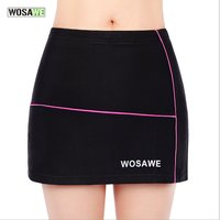 WOSAWE Outdoor Sports Bicycle Clothing Riding Cycling Seamless Elastic Women Shorts Skirt Silica Gel Silicone Padded Underwear H