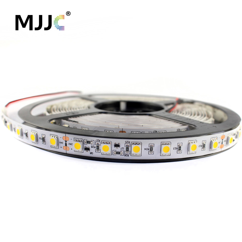 LED Strip Light 24V DC 5M 300 SMD 5050 LED Ribbon Decoration Flexible Tape led Stripe Light Waterproof IP67 Warm Cool White IP20