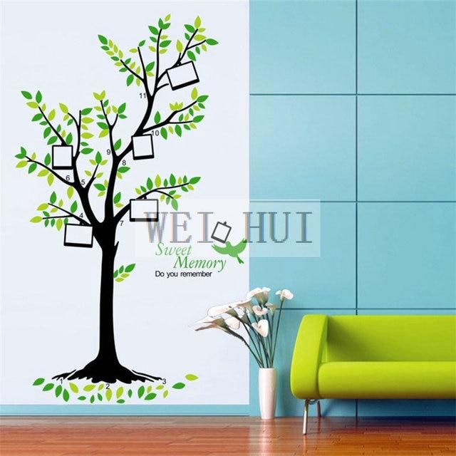 Grün Fotorahmen Baum Vinyl Wandtattoo Wandaufkleber Aufkleber Für