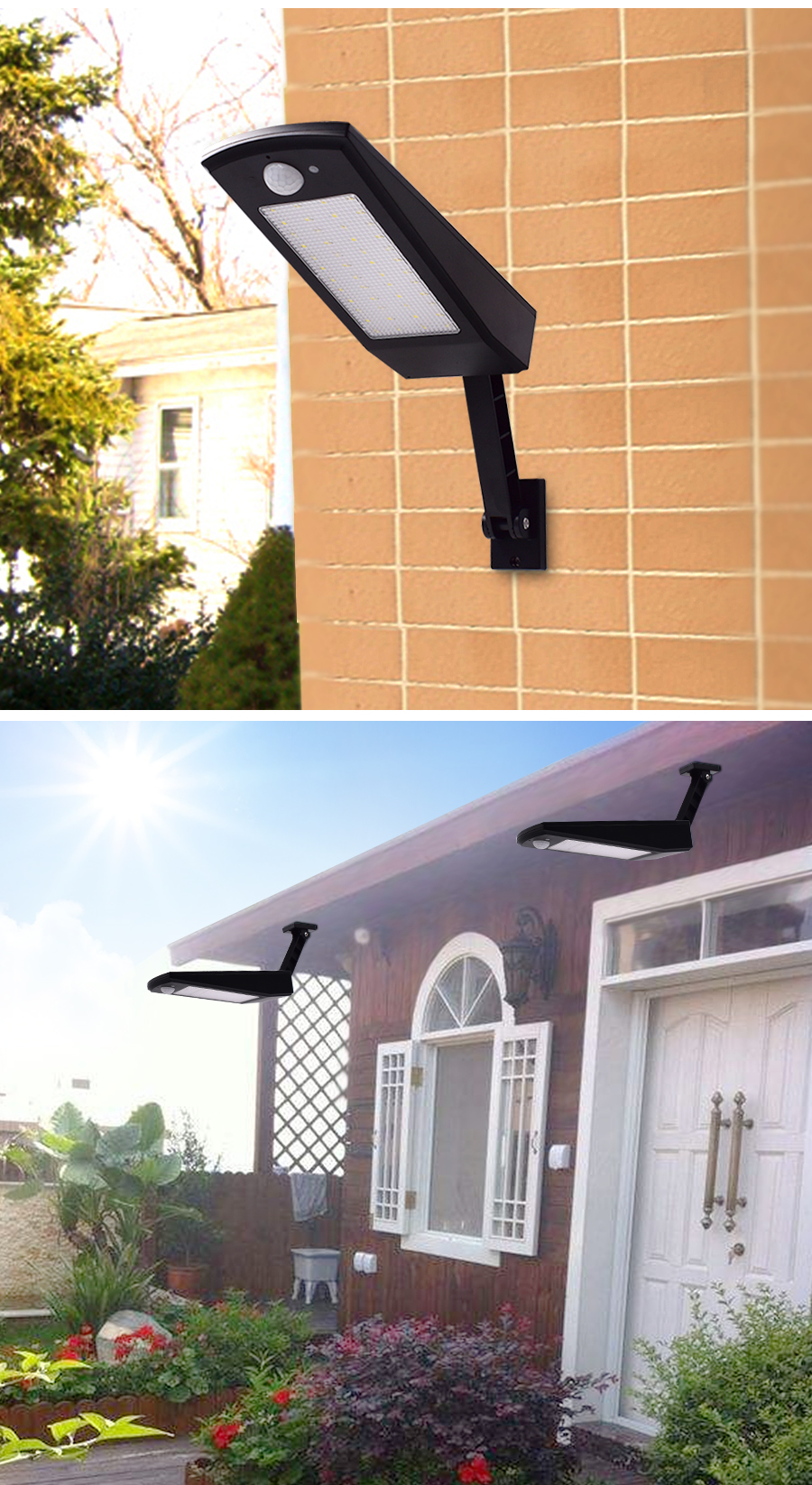 48 LED Outdoor Motion Sensor Light Solar Lights 900LM Lamp For Wall Garden Yard Sadoun Sales International
