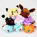 8 cm 8 Pçs/lote Anime Dos Desenhos Animados Brinquedos de Pelúcia Slowbro Charmander Mudkip Eevee Umbreon Espeon Macios Brinquedos de Pelúcia Para As Crianças