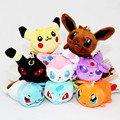 8cm 8Pcs/Lot Anime Cartoon  Plush Toys Eevee Slowbro Charmander Mudkip Umbreon Espeon Soft Stuffed Toys For Children