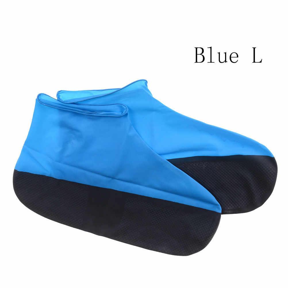 1 paar Waterdichte Schoen Cover voor Mannen Vrouwen Schoenen Elasticiteit Latex Regen Covers Makkelijk Carry Overschoenen Slip Boot Protector