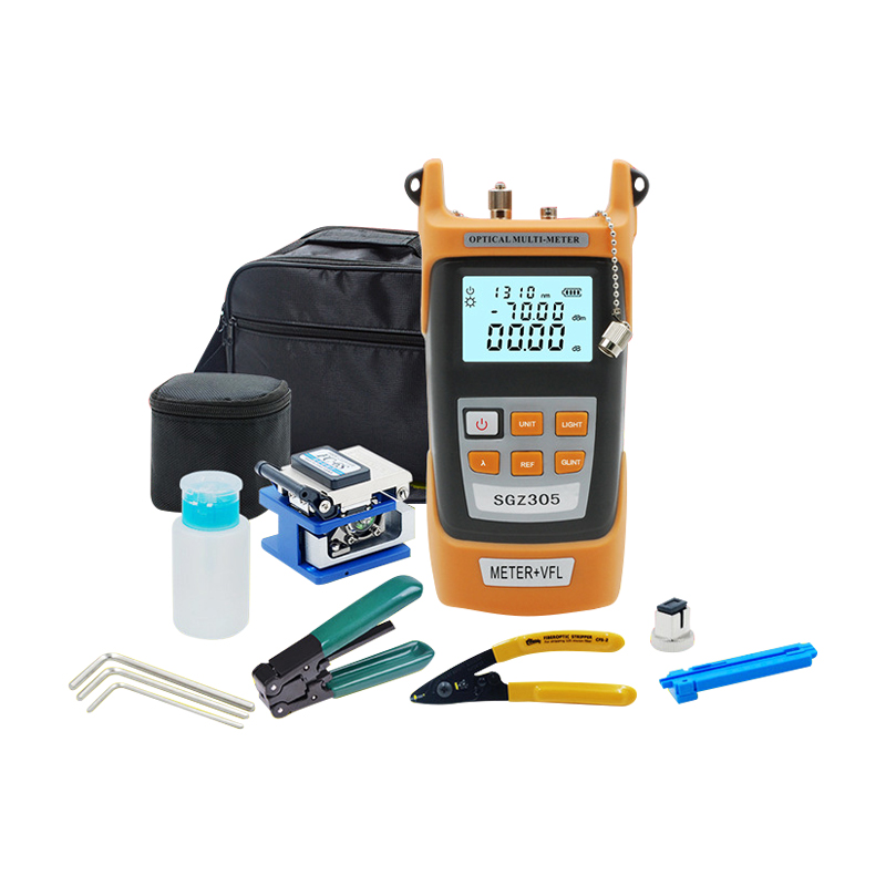 Optical fiber cold connection tool kit Fiber Optic Tool Set/Fiber Cleaver/Optical power meter + red light two-in-one machine roopali garg polarization mode dispersion in optical fiber