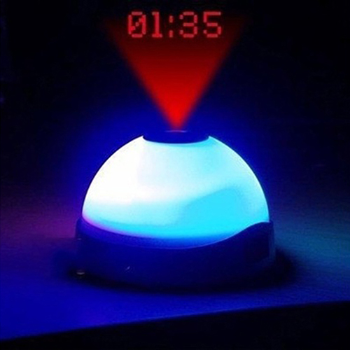 Digital Changing Color LED Magic Starry Projection Clock Night Light Alarm Clock