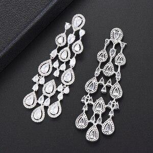 Image 3 - Missvikki boucles doreilles en cristal autrichien pour femmes, marque originale, pendentif magnifique, bijoux danniversaire, acteurs, danseurs, spectacle sur scène
