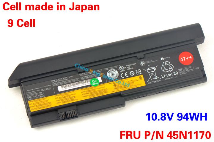 Prix pour 11.1 V 8700 mAh Véritable Nouvel Ordinateur Portable Batterie pour Lenovo ThinkPad X200 X200S X201 X201S X201I 45N1170 42T4695 42T4696 42T4697 94WH