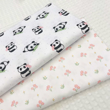 100% Cotton Twill Fabric Printed Panda Cotton Patchwork Cloth ,DIY Sewing Quilting Fat Quarters Material For Baby&Child 45x45cm thin soft cotton twill printed fabric diy sewing patchwork table cloth check fabric high quality cotton fabric cloth