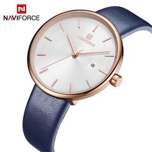 Image 1 - NAVIFORCE Frauen Uhr Mode Lässig Quarz Dame PU Armband Einfach Datum Wasserdichte Armbanduhr Geschenk für Mädchen/Frau/Frau 2019