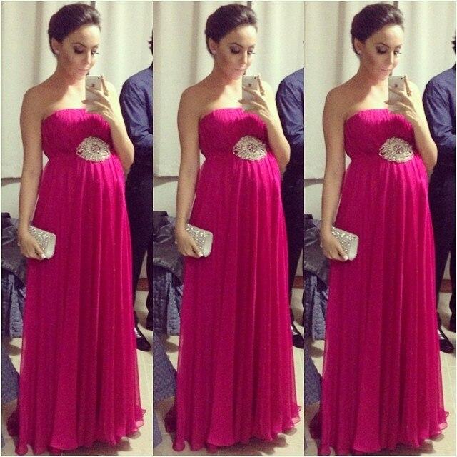 Maternidad Sin Red La De Primavera 2015 Largo Embarazadas Noche Rose Vestidos Mujeres Para Nueva Tirantes wxIqCXS