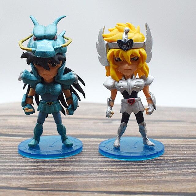 5 pièces/ensemble Saint Seiya mythe tissu Shiryu Shun Hyoga Jabu figurine daction PVC jouets collection poupée anime dessin animé modèle