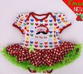 Baby Christmas Clothing Sets New Baby Girl Clothing Sets baby outfits Santa Claus Lace Tutu Romper Dress Short sleeve romper