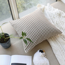 New Modern Design Geometric Cushion Cover Decorative Lattice Hug Pillowcase Without Core For Home Decoration Can Drop Shipping