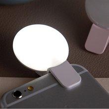 Светодиодный кольцевой светильник для селфи, портативная лампа для селфи, светящаяся лампа с зажимом для камеры, фотосъемки, видео, точечный светильник