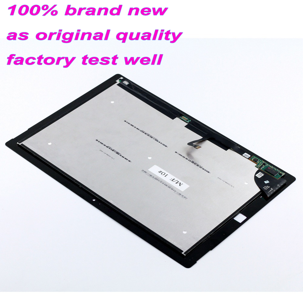 New Assembly for Microsoft <font><b>Surface</b></font> <font><b>Pro</b></font> <font><b>3</b></font> Pro3 <font><b>1631</b></font> Touch Screen LCD Display Replacement Tom12h20 v1.1 LTL120QL01 003 Free Tools image