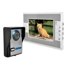 7 Дюймов Видео-Телефон Двери Дверной Звонок Домофон Kit 1-камера 1-монитор Ночного Видения 812FA11