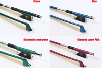 Yinfente 4/4 Violin Bow Carbon Fiber Ebony Frog Mongolia horse tail Balanced Colour Bow Violin Accessory Parts Free Shipping